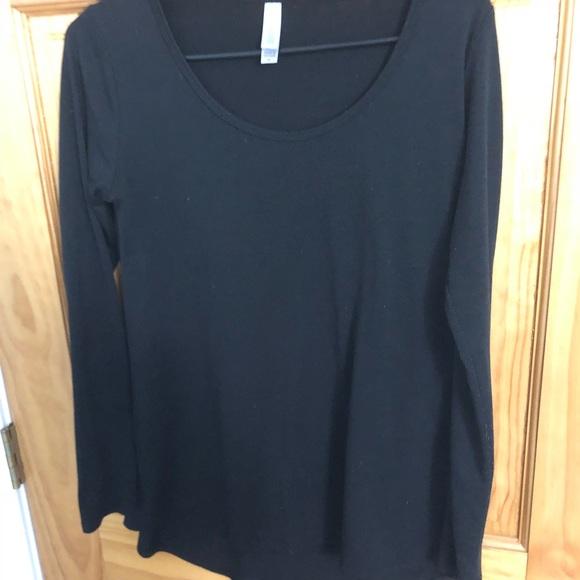 LuLaRoe Tops - XS LulaRoe Black long sleeve top